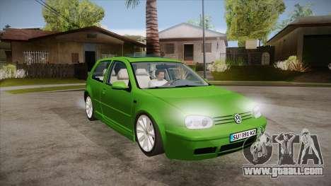 Volkswagen Golf Mk4 for GTA San Andreas back view