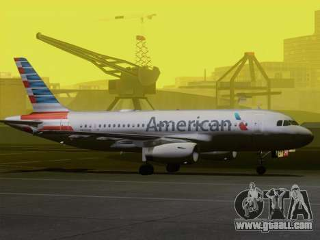 Airbus A319-112 American Airlines for GTA San Andreas wheels