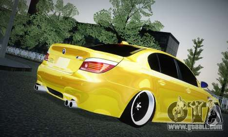 BMW M5 Gold for GTA San Andreas right view