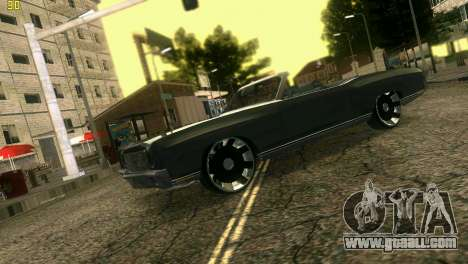 Chevy Monte Carlo for GTA Vice City back view