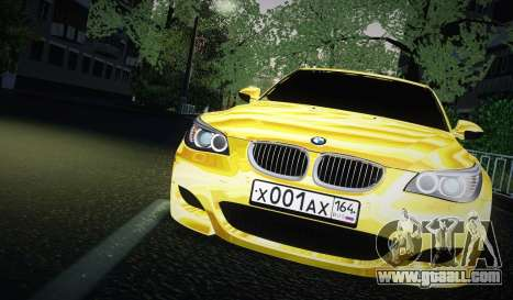 BMW M5 Gold for GTA San Andreas back left view