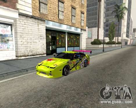 Nissan 240sx Drift for GTA San Andreas left view