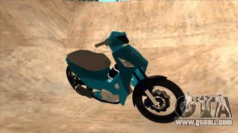 Honda 125cc Tuning for GTA San Andreas left view