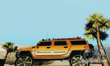 Hummer H2 Monster for GTA San Andreas left view