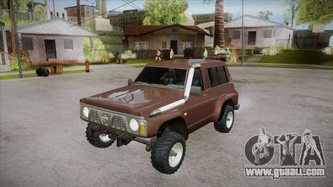 Nissan Patrol Y60 for GTA San Andreas bottom view