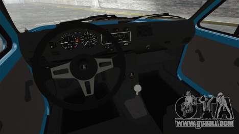 Volkswagen Golf MK1 GTI Update v2 for GTA 4 inner view