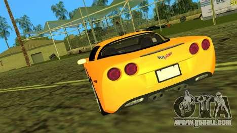 Chevrolet Corvette C6 for GTA Vice City back left view