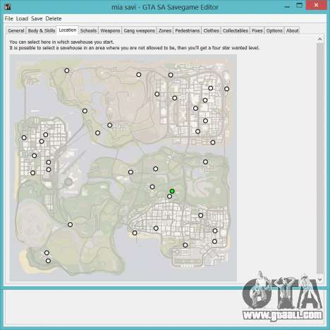 Savegame Editor v3.2 for GTA San Andreas second screenshot