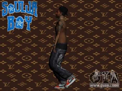 Soulja Boy skin for GTA San Andreas third screenshot