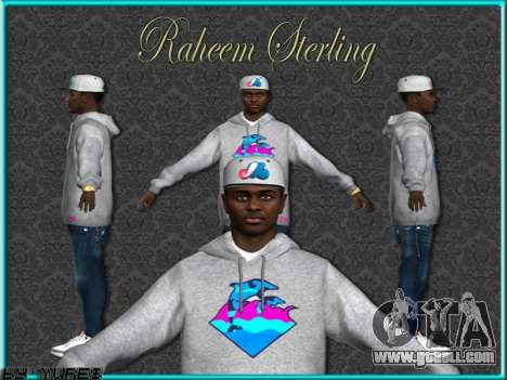 Raheem Sterling skin for GTA San Andreas fifth screenshot