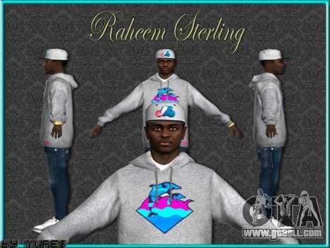 Raheem Sterling skin for GTA San Andreas