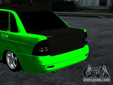 Lada Priora Carbon Lux for GTA San Andreas back left view