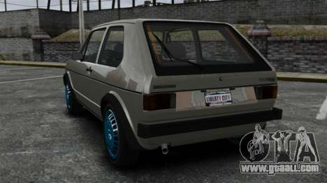 Volkswagen Golf MK1 GTI Update v2 for GTA 4 back left view