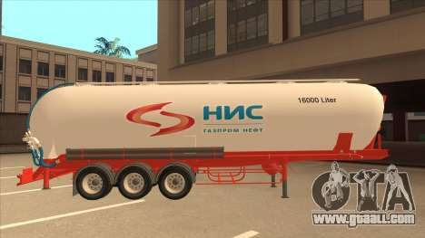 Semi-trailer for Scania R620 Nis Nis Kamion for GTA San Andreas back left view