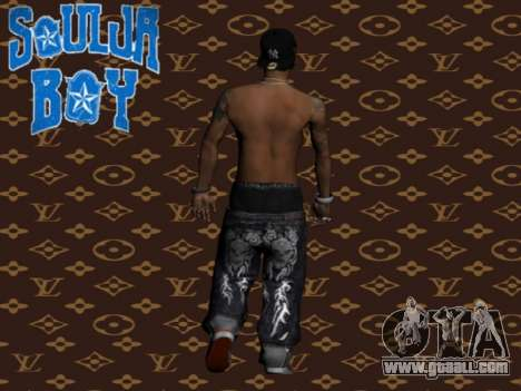 Soulja Boy skin for GTA San Andreas second screenshot