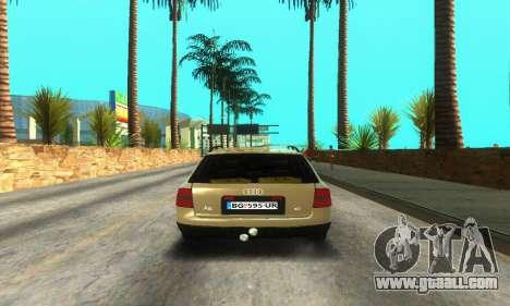 Audi A6 (C5) Avant for GTA San Andreas back view