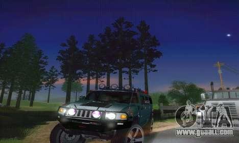 Hummer H2 Monster for GTA San Andreas inner view
