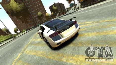 Audi R8 for GTA 4 back left view