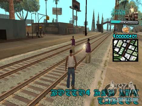 C-HUD by Kerro Diaz [ Aztecas ] for GTA San Andreas third screenshot