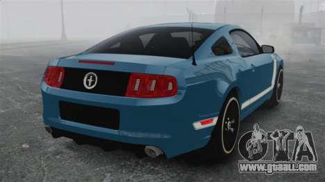 Ford Mustang BOSS 2013 for GTA 4 back left view