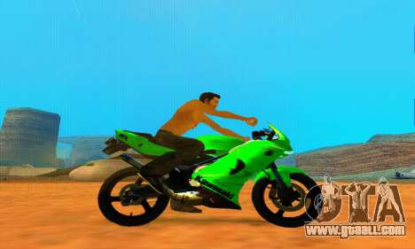 Kawasaki Ninja 150RR for GTA San Andreas left view