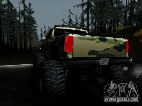 Camouflage for Monster for GTA San Andreas right view