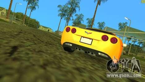 Chevrolet Corvette C6 for GTA Vice City upper view