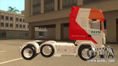 Scania R620 Nis Kamion for GTA San Andreas back left view