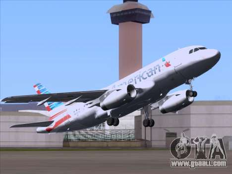 Airbus A319-112 American Airlines for GTA San Andreas back view
