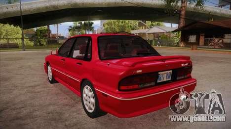Mitsubishi Galant VR-4 (E39A) 1987 HQLM for GTA San Andreas back left view