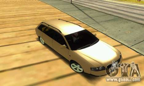 Audi A6 (C5) Avant for GTA San Andreas upper view