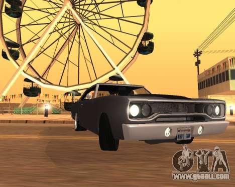 Plymouth Road Runner 1970 for GTA San Andreas back left view