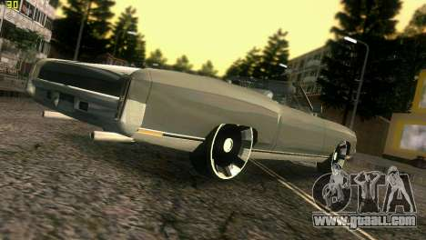 Chevy Monte Carlo for GTA Vice City upper view
