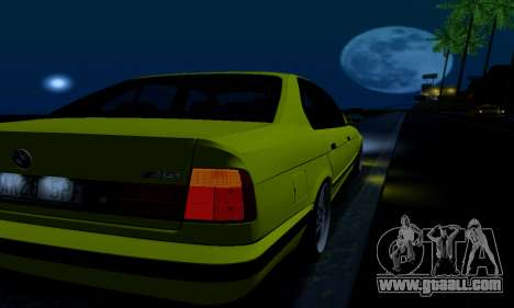 BMW M5 E34 IVLM v2.0.2 for GTA San Andreas bottom view
