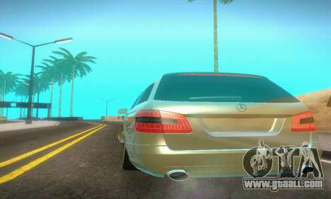 Mercedes-Benz E350 Wagon for GTA San Andreas inner view