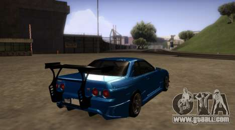 Nissan Skyline R32 GT-R for GTA San Andreas right view