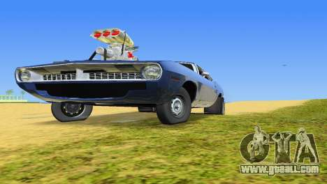 Plymouth Barracuda Supercharger for GTA Vice City back view