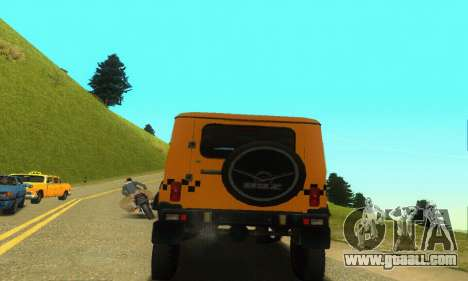 Uaz Hunter Taxi for GTA San Andreas back view