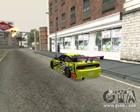Nissan 240sx Drift for GTA San Andreas back left view