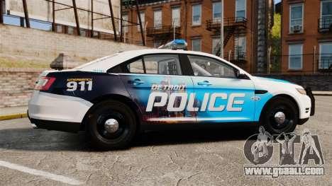 Ford Taurus 2010 Police Interceptor Detroit for GTA 4 left view