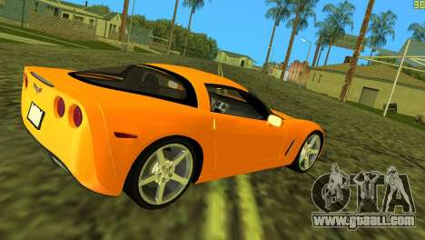 Chevrolet Corvette C6 for GTA Vice City right view