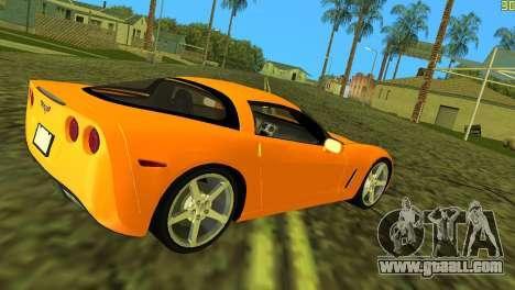 Chevrolet Corvette C6 for GTA Vice City right view