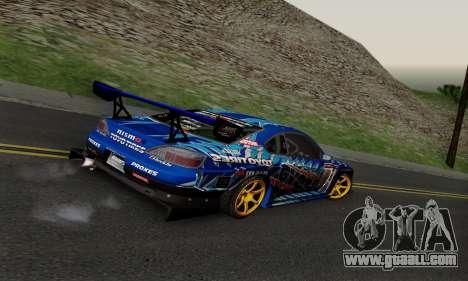 Nissan Silvia S15 Toyo Drift for GTA San Andreas back view