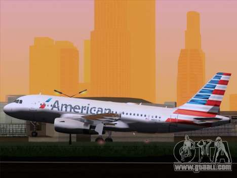 Airbus A319-112 American Airlines for GTA San Andreas right view