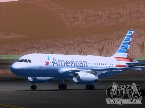 Airbus A319-112 American Airlines for GTA San Andreas left view