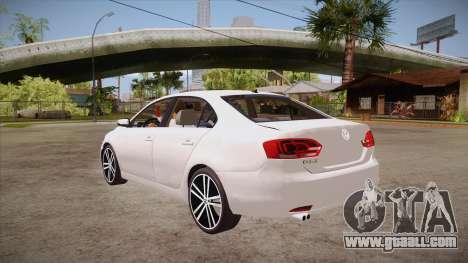 VW Jetta GLI 2013 for GTA San Andreas back left view