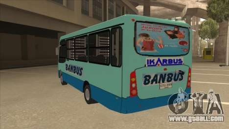 BANBUS Bus Srb. for GTA San Andreas back view