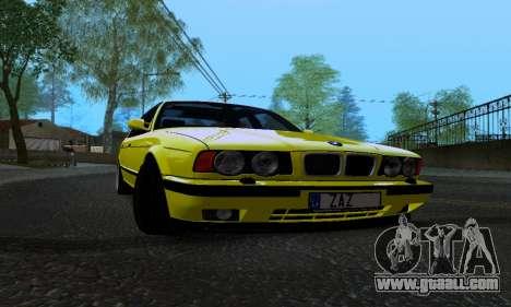 BMW M5 E34 IVLM v2.0.2 for GTA San Andreas inner view