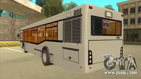 511 Sremcica Bus for GTA San Andreas back view
