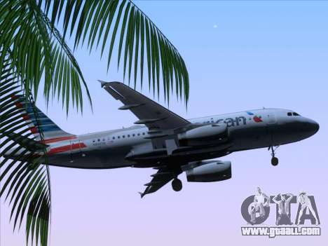 Airbus A319-112 American Airlines for GTA San Andreas upper view